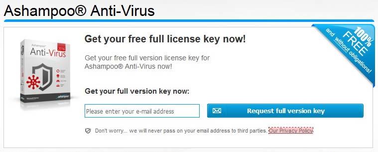 Ashampoo Antivirus 2017 License Key Free
