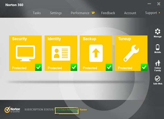 Norton 360 Free Trial for 180 Days