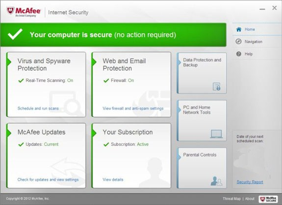 Mcafee Internet Security Free Subscription - 180Days