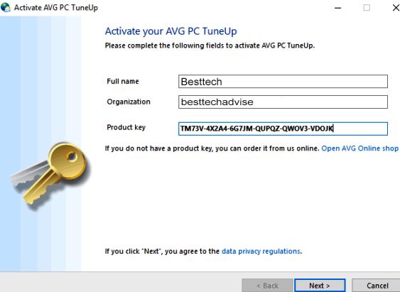 AVG PC Tuneup 2018 Product Key Free