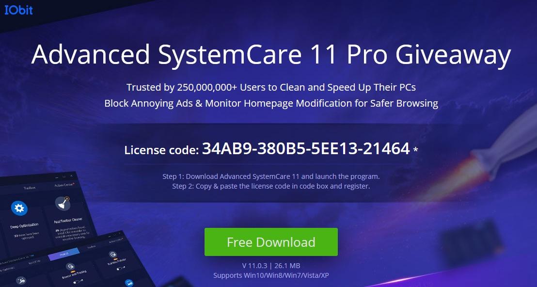 IObit Advanced SystemCare Pro 11 License Key